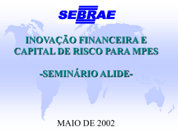 FAMPE - Fundo de Aval do SEBRAE