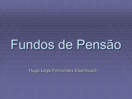 Fundos de Pensão - Instituto de Matemática