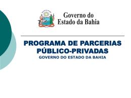 Programa de Parcerias Público-Privadas - Sefaz-BA