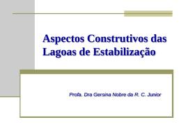Aspectos Construtivos das Lagoas de Estabilização