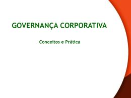Introdução a Governança Corporativa