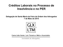 Os créditos laborais - Ordem dos Advogados