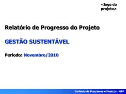 Relatório de progresso - novembro
