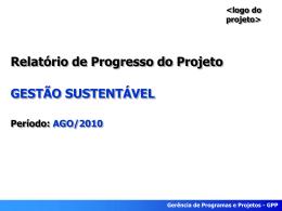 Relatório de progresso - agosto