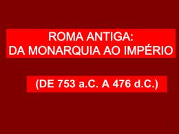 História - Roma Antiga
