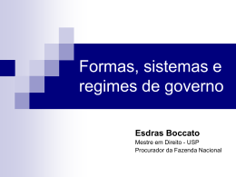 DOWNLOAD Formas, sistemas e regimes de governo