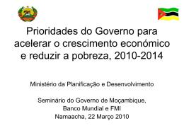 Programa Quinquenal do Governo 2010