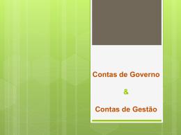 Contas de Governo e Gestão
