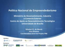 Ednalva Morais - Política Nacional de Empreendedorismo