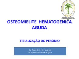 osteomielite hematogénica aguda - III Jornadas Cientificas do HCM