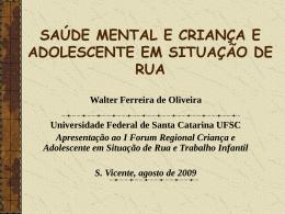 EDUCAÇÃO SOCIAL DE RUA