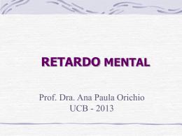 RETARDO MENTAL - Universidade Castelo Branco