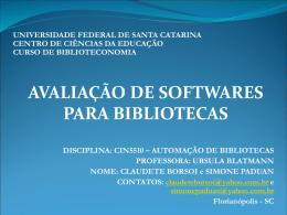 Infolib - Sistema para gestão de bibliotecas.
