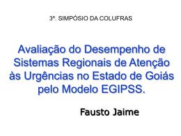 Fausto - Avaliação do desempenho de sistemas