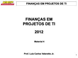 Finanças Projetos TI