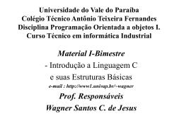 1-Bim Introdução a linguagem C