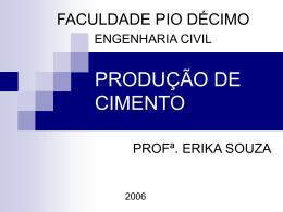 PRODUÇÃO DE CIMENTO