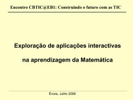 Encontro CBTIC@EB1: Construindo o futuro com as TIC