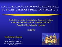 Regulamentação da Inovação tecnológica no Brasil