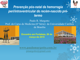 Prevenção pós-natal da hemorragia peri