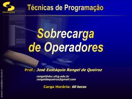 Sobrecarga dos Operadores de Inserção e