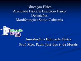 Educação Física Atividade Física Exercício Físico Definições