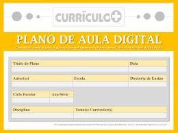 plano de aula digital