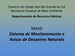 Sistema de Monitoramento e Avisos de Desastres Naturais