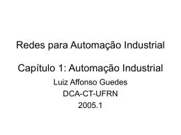Redes para Automação Industrial Capítulo 1 - DCA