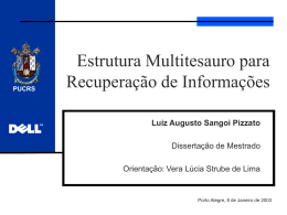 Desenvolvimento e avaliação de uma estrutura multitesauro para