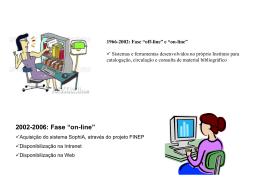 Migração do acervo bibliográfico do INPE para o sistema SophiA A