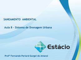 sistema de drenagem urbana – aula 8 saneamento ambiental
