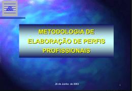 Metodologia para Elaboração de Perfis Profissionais 2