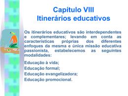 Projeto Educativo PassionistaVII - Colégio Passionista São Paulo