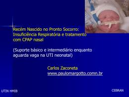 Insuficiência Respiratória e tratamento com CPAP nasal (Suporte