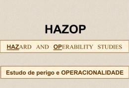 DESVIO HAZOP - Estudo de Perigo e Operacionalidade