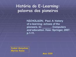 História do E-Learning: palavras dos pioneiros