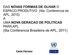 APL - CARLO FERRARO MDIC APL 2011 Brasilia