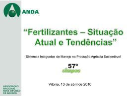 Fertilizantes - situação atual e tendências