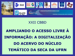 XXII CBBD apresentação NutSeca