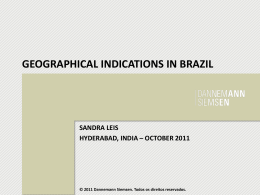 GEOGRAPHICAL INDICATIONS IN BRAZIL