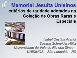 Memorial Jesuíta-Unisinos - Planor