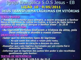 LIÇÃO 10 - Igreja Evangélica SOS Jesus