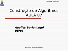 Aula07 - Aquiles Burlamaqui