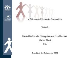 Resultados de Pesquisas e Evidências / Marisa Eboli