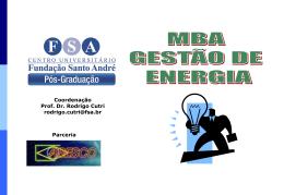 MBA GESTAO DE ENERGIA