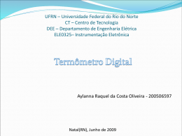Termômetro Digital - DEE - Departamento de Engenharia Elétrica