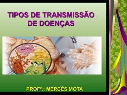TIPOS DE TRANSMISSÃO DE DOENÇAS