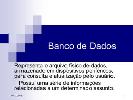 Slides sobre banco de Dados