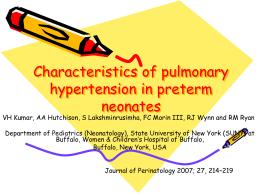 Características da hipertensão pulmonar em neonatos pré
